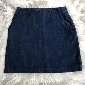 Banana Republic Denim Sailor Flap Mini Skirt EUC